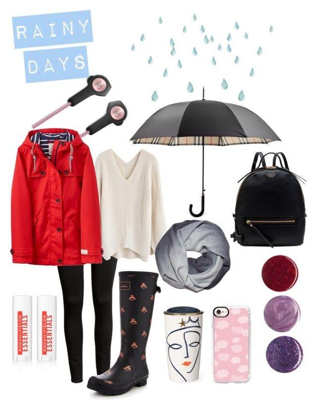"""Rainy Days"" by amanda-barrett on Polyvore featuring Bang & Olufsen, Burberry, Chicwish, Joules, Radley, Deborah Lippmann and Casetify"