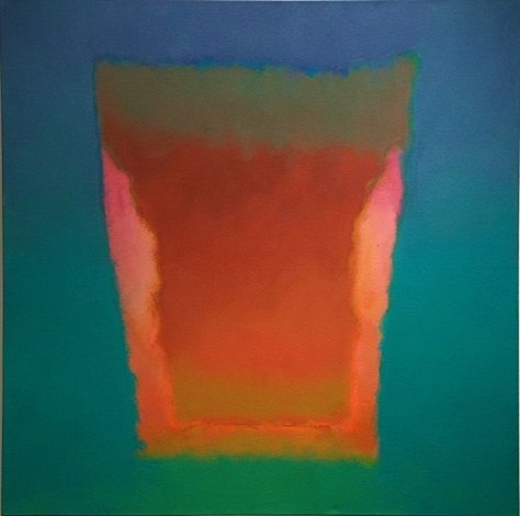 "trevor bell - ""storm center in green"", 1980, acrylic on canvas."