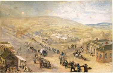 'Flemington Melbourne', Samuel Charles Brees, C.1856. Courtesy State Library of Victoria