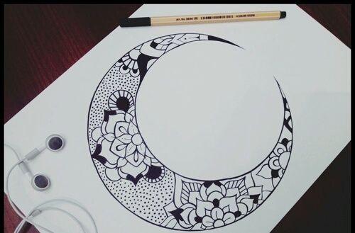Imagem de drawing, moon, and art