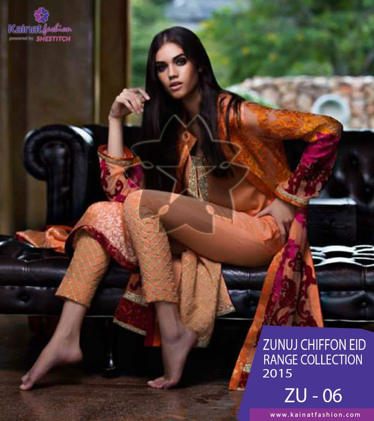 Zunuj Chiffon Eid Range 2015 by LSM Fabrics is available on She Stitch online stores. Buy this dress on very reasonable rates.