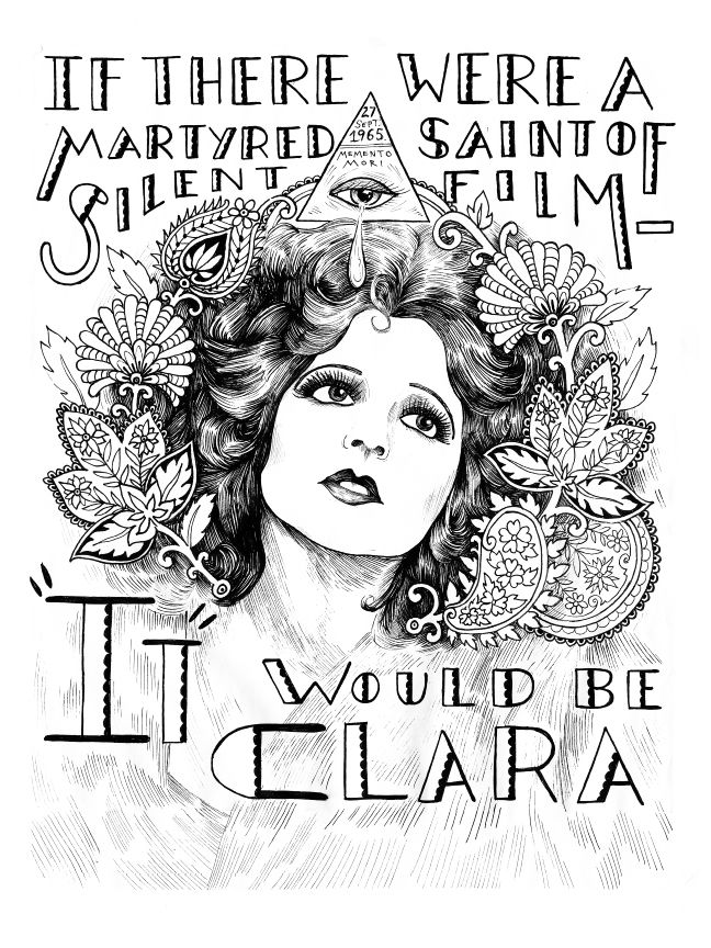 Clara Bow, from Illuminating the Stars Volume 1 by Alicia Justus. Currently funding on Kickstarter: http://kck.st/1wD7LNa