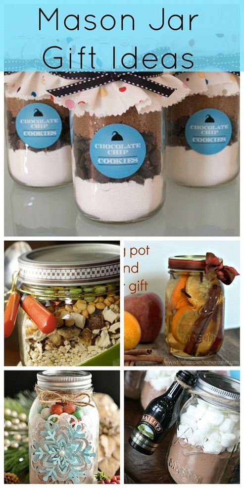 Mason Jar Gift Ideas, great idea for friends and work colleagues, going to do this this year!