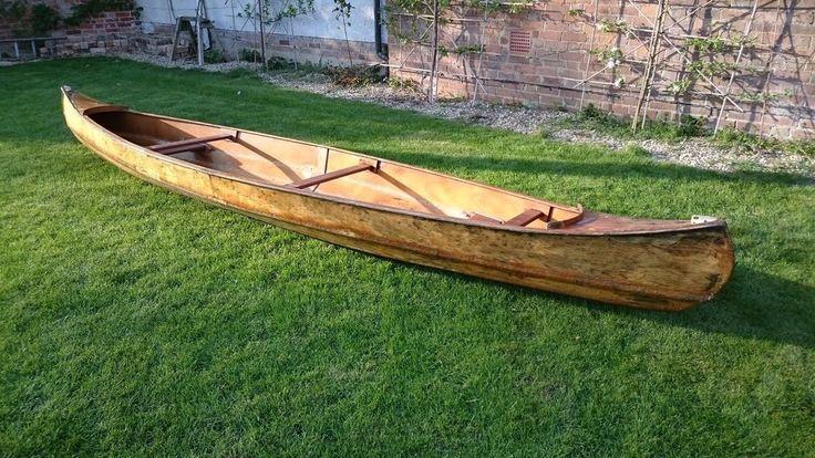 Lovely wooden Canadian canoe