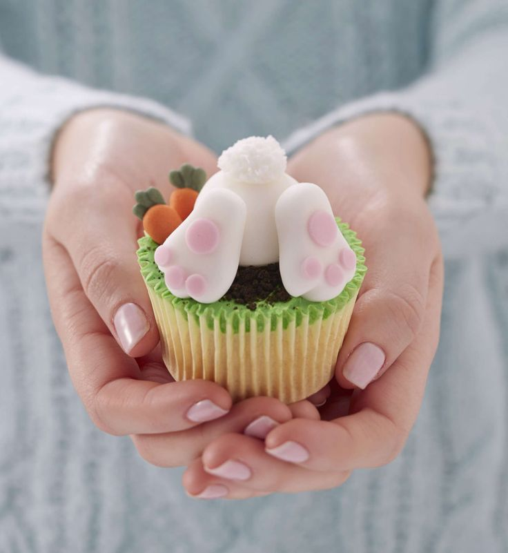 How to Make Easter Bunny Cupcakes #Easter #Rabbit