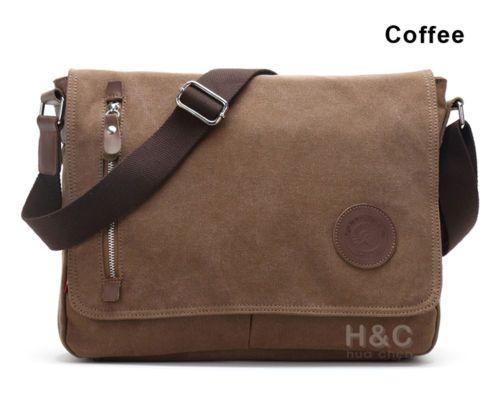Men-039-s-Vintage-Canvas-Schoolbag-Satchel-Shoulder-Messenger-Bag-Laptop-Bags-New
