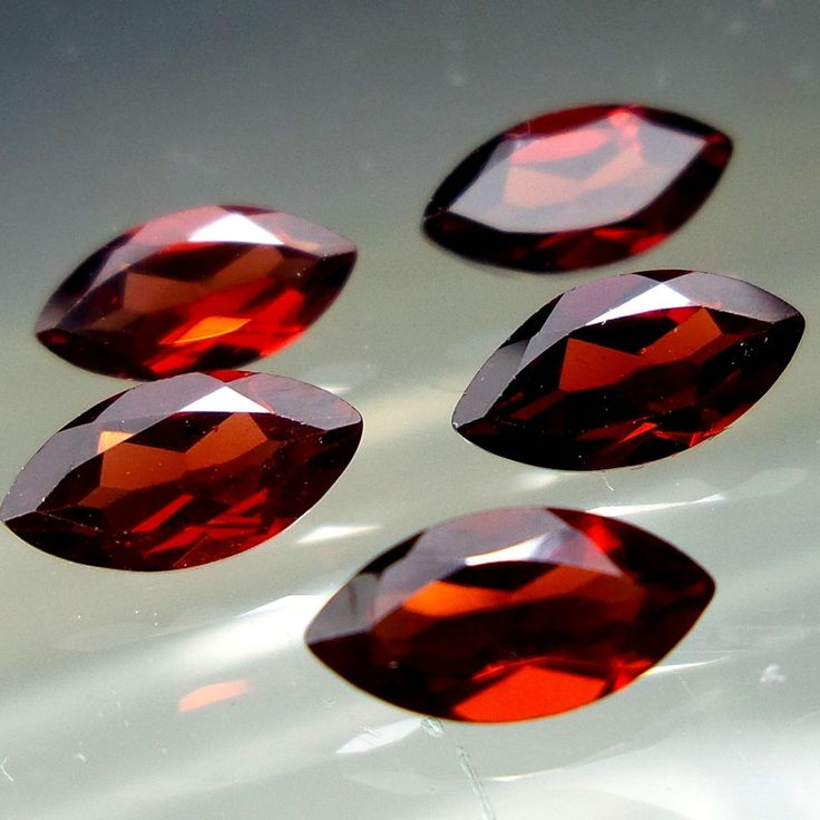 8x4 MM 3.5 Carat Natural Mozambique Red Garnet Marquise Shape Cut Stone #Unbranded
