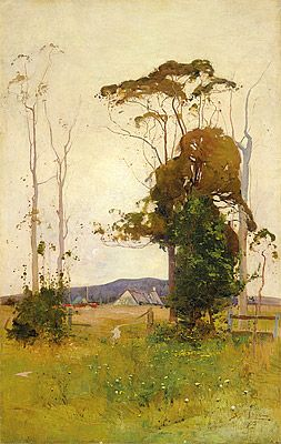 Sydney Long - Farm Landscape 1905
