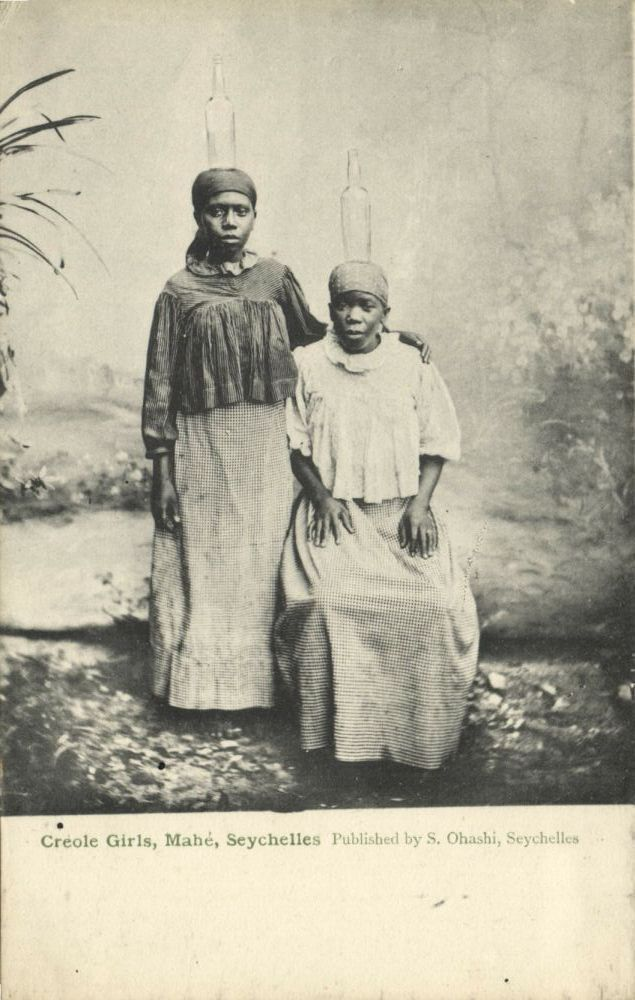 Seychelles Mahé Creole Girls Head Transport 1899 | eBay