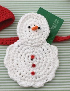 Snow Man Gift Card Cozy - Patterns | Yarnspirations