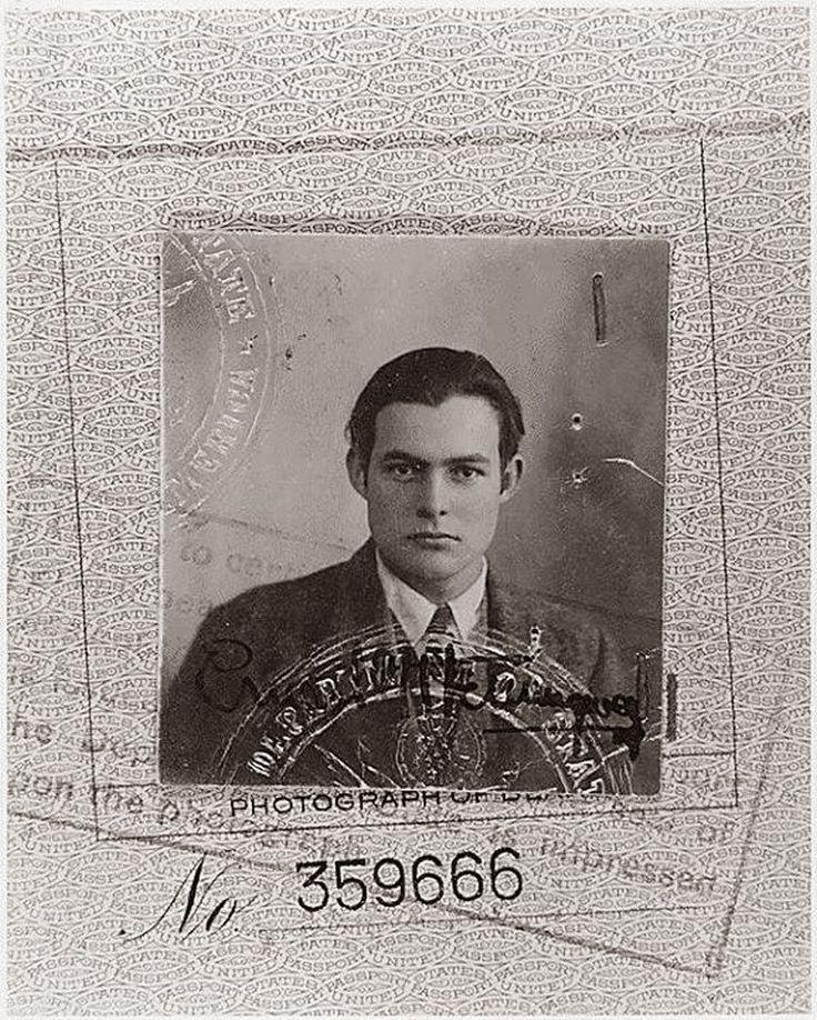 Η φωτογραφία της ταυτότητας του Έρνεστ Χέμινγουεϊ  – 1923