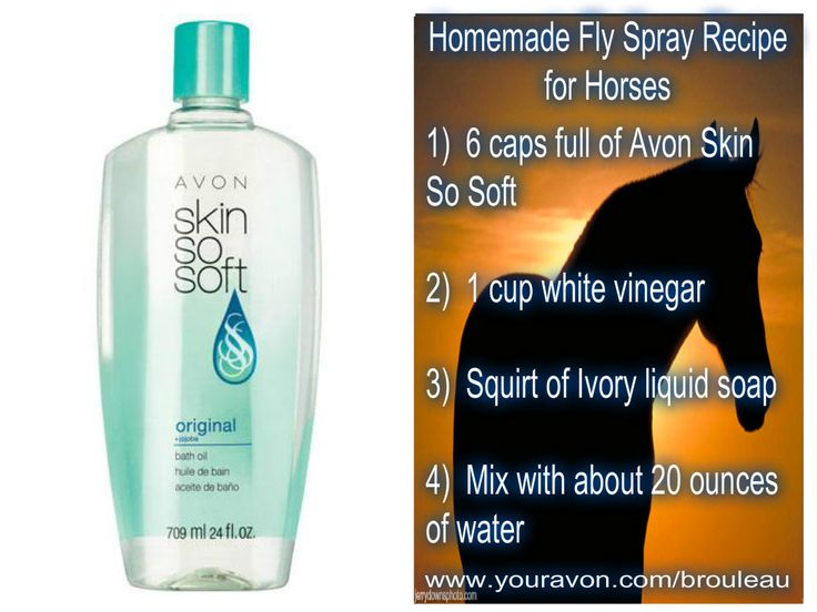 Homemade Fly Spray recipe using Avon Skin So Soft