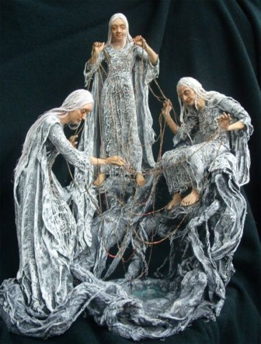 The Norns (Old Norse: norn, plural: nornir) in Norse mythology are female beings who rule the destiny of gods & men.  https://en.wikipedia.org/wiki/Norns