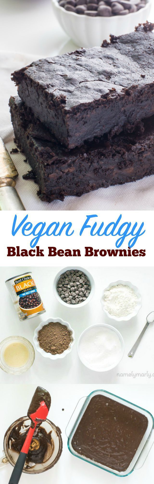 Get your fiber, stay healthy, keep it simple, and make it tasty - all in one brownie! Vegan Fudgy Black Bean Brownies!