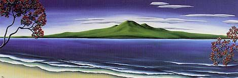 Rangitoto by Diana Adams for Sale - New Zealand Art Prints