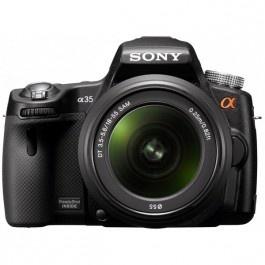 Camera foto digitala SONY SLT-A35K cu obiectiv 18 - 55 mm 16.2 Mp 3 inch negru Camere foto-video aparate foto dslr Sony Altex