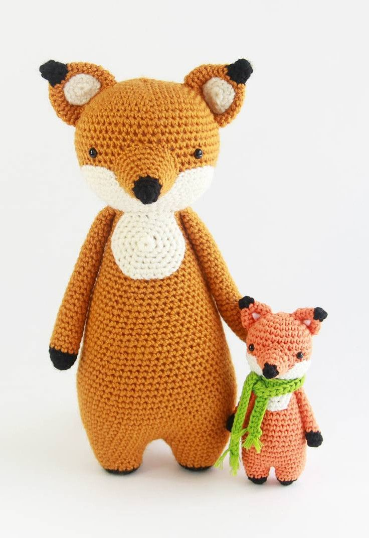 Who's that?  Mini Fox joined the Fox family!  The pattern will be available in my shop soon.  Tall fox crochet pattern can be found in my Ravelry store at http://www.ravelry.com/stores/little-bear-crochets  #amigurumi #littlebearcrochets