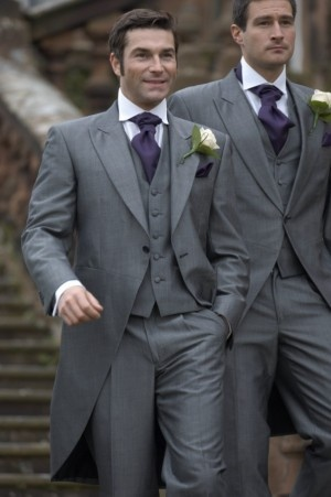 Grey with a hint of purple for the men...