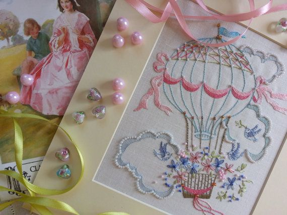 Flight of Fancy : Beautiful Embroidery Kits from The Maggie Gee Embroidery Studio on Etsy, €16,09