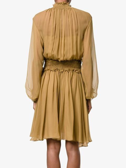 Chloé платье с оборками и вырезом спереди