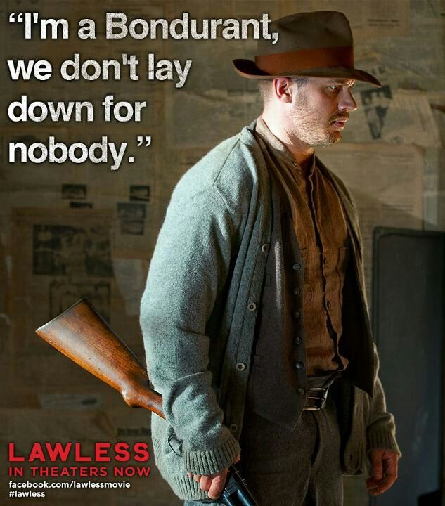 It's official after seeing Lawless I know that every movie should have Hardy and Oldman in it.