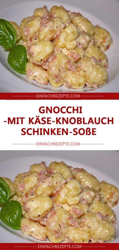 Gnocchi mit Käse-Knoblauch-Schinken-Soße 😍 …