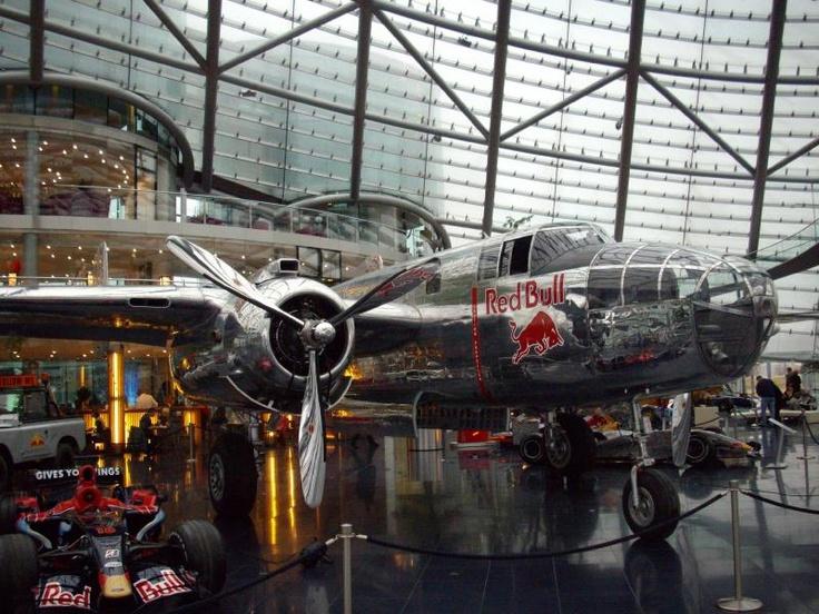 Hangar-7 Salzburg AT www.hangar-7.com where Red Bull stores their aircraft.