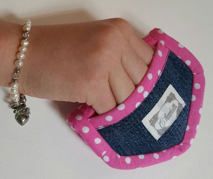 A personal favorite from my Etsy shop https://www.etsy.com/listing/295284403/upcycled-denim-mini-potholders-set-of