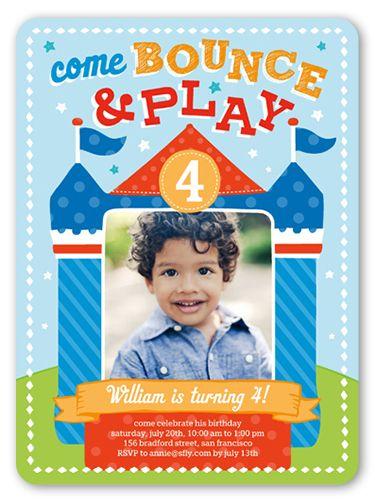 Bounce House Fun 6x8 Invitation Card | Birthday Invitations