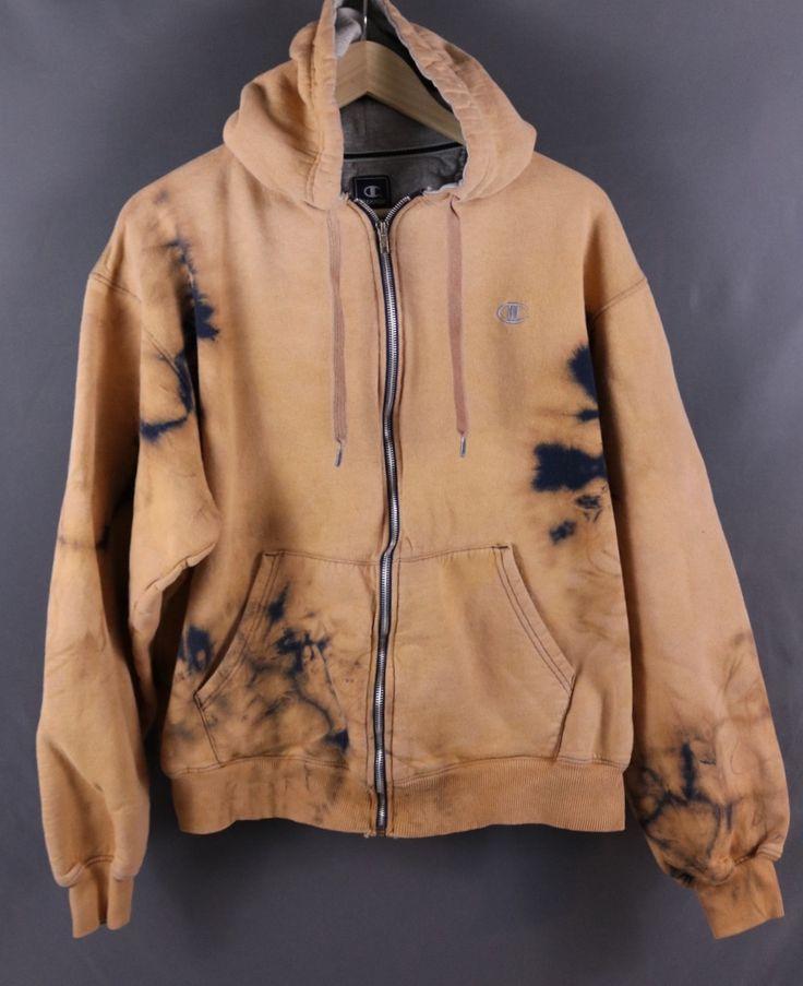 Custom Bleached Zip Up Champion Hoodie