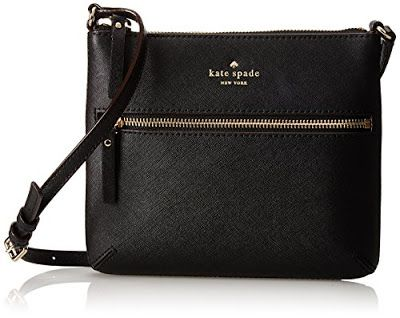 This Kate Spade New York cross-body bag is crafted from 100% Cow Split Leather.  This small  zip-top bag in textured leather features gold-tone branding at the front.