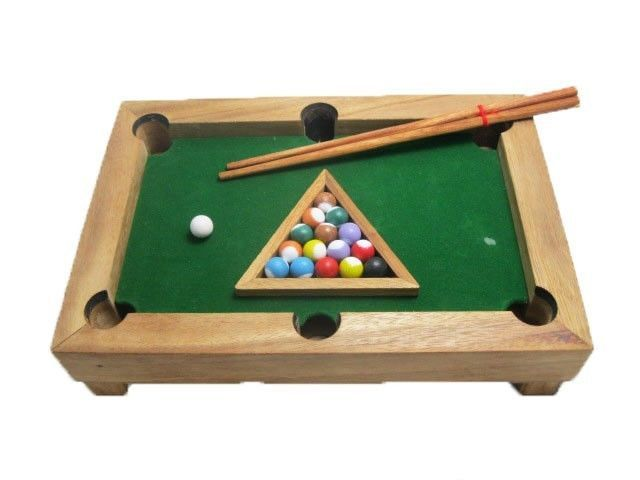 Mini pool table wooden game small snooker table family - Small pool table ...