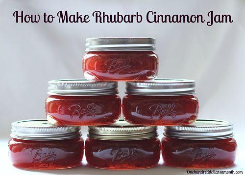 How to make rhubarb cinnamon jam