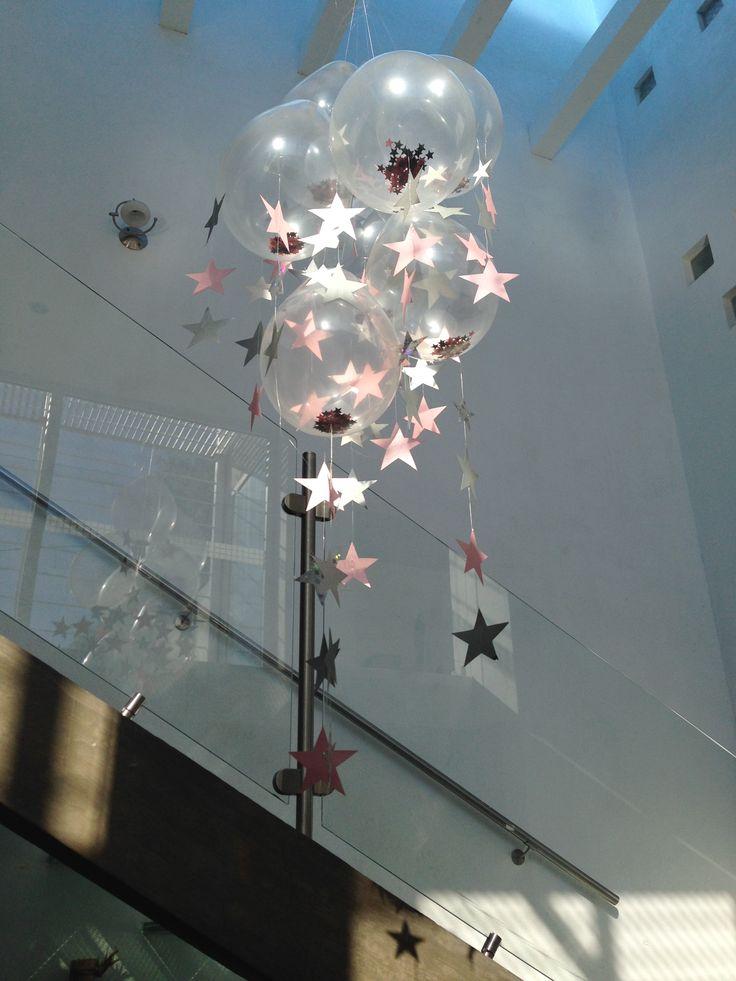 17 mejores ideas sobre cortinas de globos en pinterest for Decoracion con estrellas
