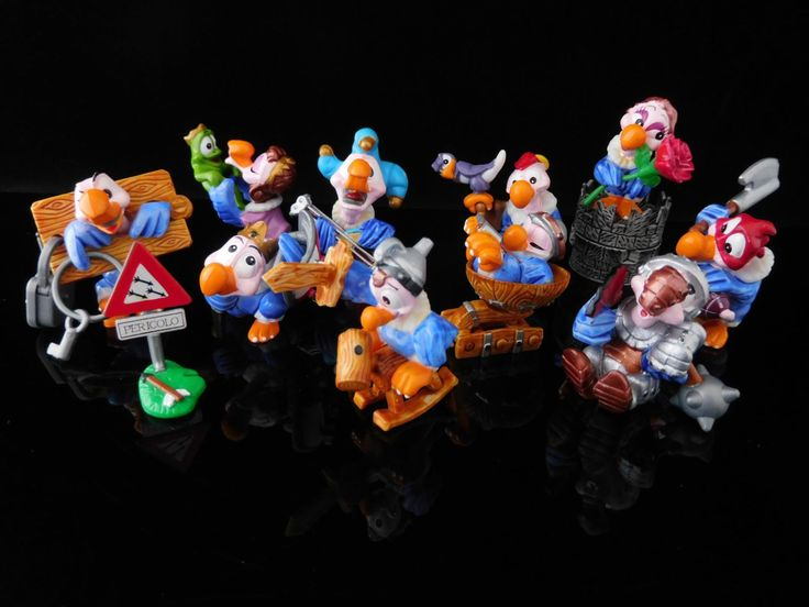 Vintage Toys, Collectible, Sir Condor, Vultures Royal Suite, Complete Series of 10 Figures, KINDER Surprise Figurines by MrVintageToySurprise on Etsy