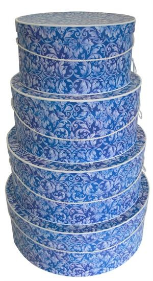 Blue and white Hat Boxes...My FAV!