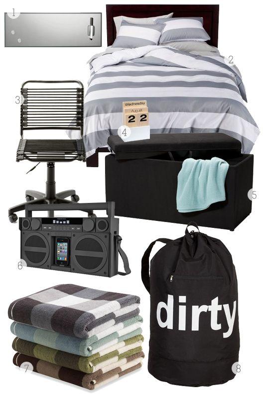 Cute Dorm Room Decorating Ideas | Sarah Hearts - Guys Dorm Room Decorating Ideas #BBYSocialStudies