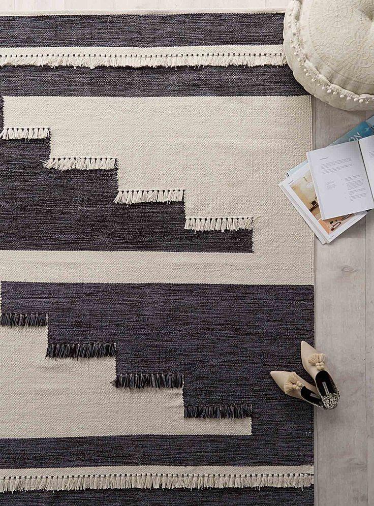 Le tapis patchwork frangé 140x200 cm   Simons Maison   Tapis neutres de base en ligne   Simons