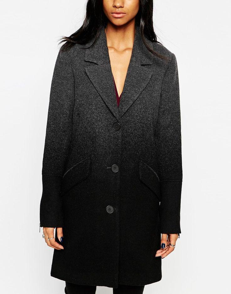 Изображение 3 из Двубортное пальто с эффектом деграде mbyM