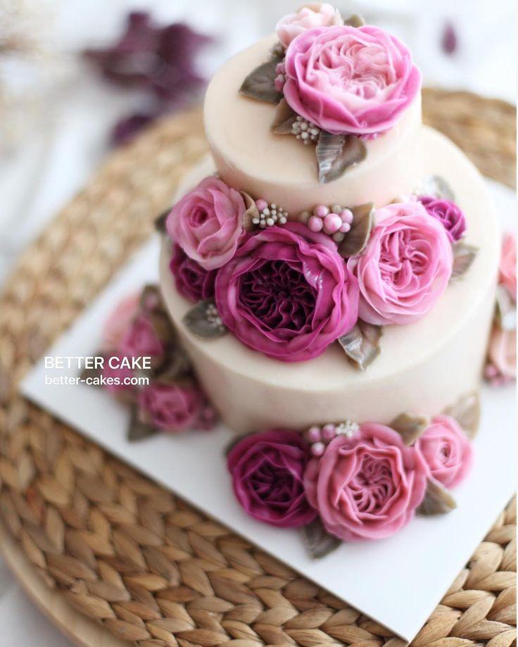 Best 25 buttercream flower cake ideas on pinterest flower cakes buttercream flowers and - Creme decoration cupcake ...