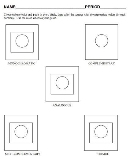 Color scheme worksheet Color Pinterest Art journals