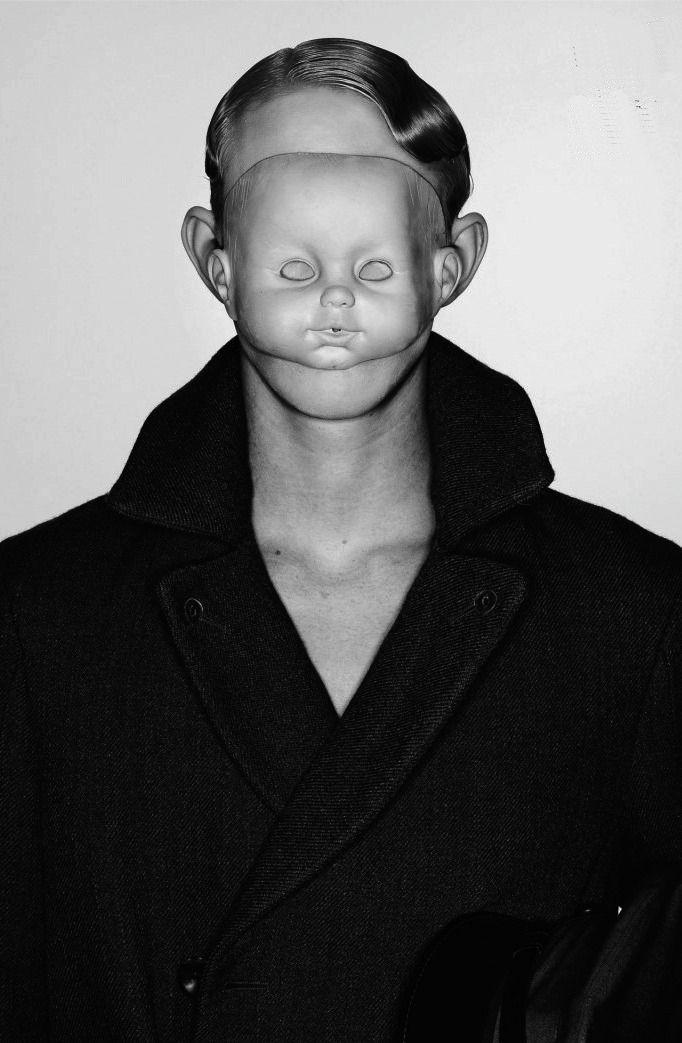 Richard Burbridge / masque poupée bébé
