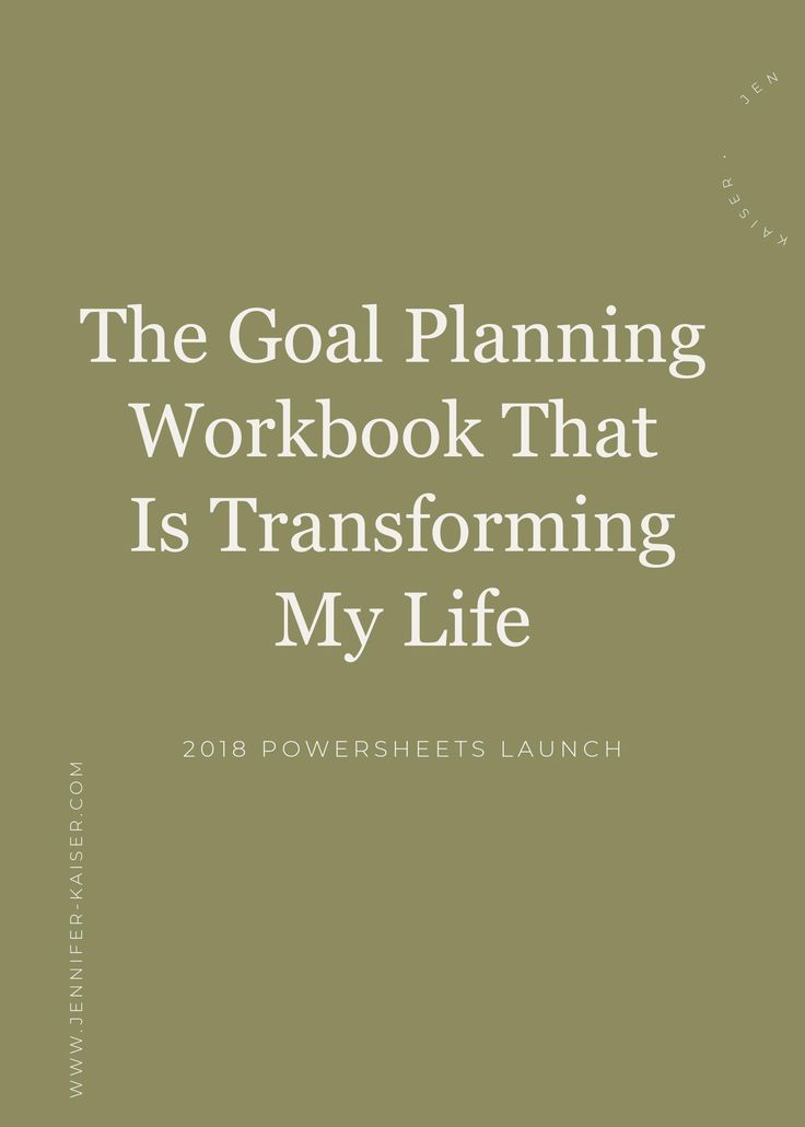 The goal planning that is transforming my life!