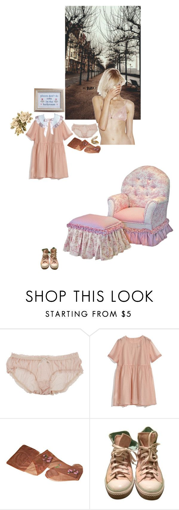 """harsh words"" by mermaid-nielsine ❤ liked on Polyvore featuring Forever 21, Converse, Pink, pale, rose and tender"