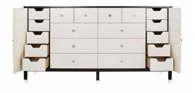 Monroe White Deco Dresser - Belle Meade Signature | Luxe Home Philadelphia