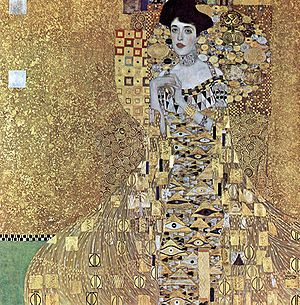 """Worth $135 million, most expensive painting ever sold. (""""Portrait of Adele Bloch-Bauer I"""" by Gustav Klimt)"""