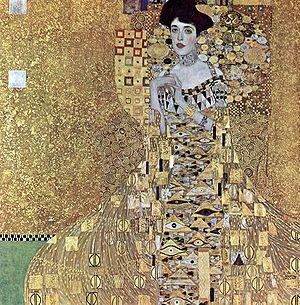 Gustav Klimt   Portrait of Adele Bloch-Bauer I   1907..... I love Klimt.