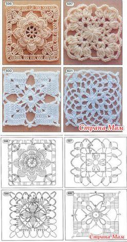 Комбинированный сарафан, кокетка квадратными мотивами, низ- ткань Онлайн - Вяжем вместе он-лайн - Страна Мам
