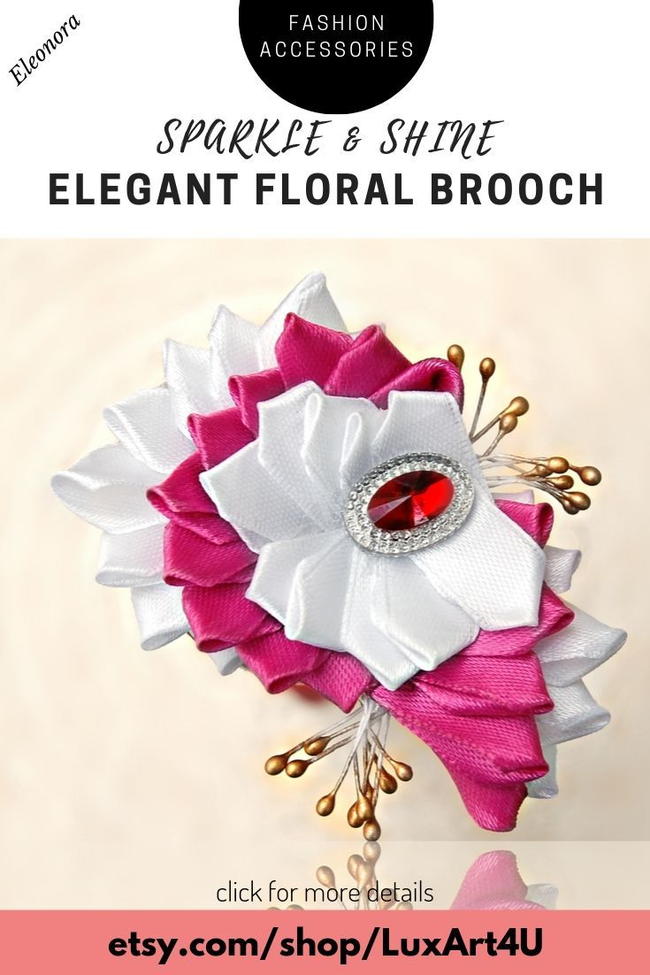 UK Seller NEW Beautiful Large Two Tone Fabric Flower Hair Clip 9 Colours