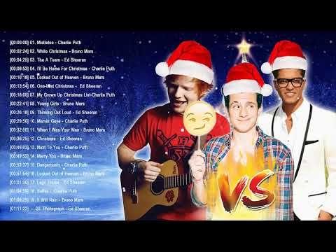 Lyrics: Bruno Mars,Charlie Puth,Ed Sheeran Best Christmas Songs,Greatest Hits Pop Playlist Christmas 2018